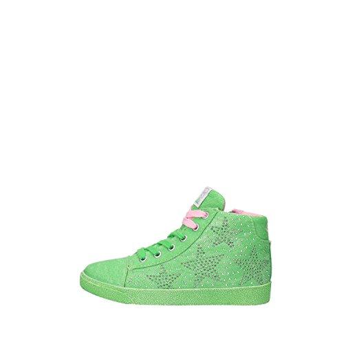 LULU' sneakers bambina verde tela strass AG661 (30 EU)