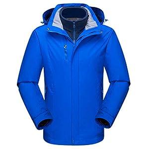 Zilee Männer Ski Jacke Sportarten Wasserdicht Winddicht Mantel 3 in 1 Warme Windjacke Atmungsaktiv Schnee Passen Fleece Innenseite für Skifahren Wandern Bergsteigen