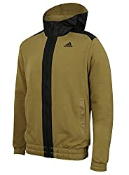Adidas Mens Stronger Climalite Cotton Full Zip Hoodie