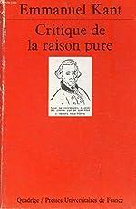 Critique de la raison pure de Kant E.