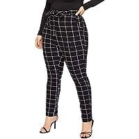 2019 Pantalones Mujer Verano CasualTalla Grande Cintura Alta, Vendaje LáPiz De ImpresióN