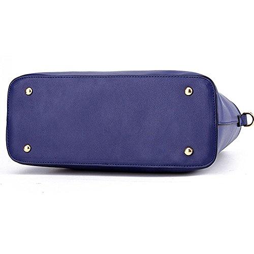 Classico borsa in PU pelle borsa a tracolla di tote di modo/borse a mano Cachi