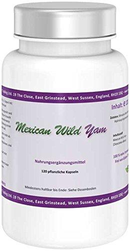 Nature Power | Mexican Wild Yam | 120 vegane Kapseln | glutenfrei | reine Yamswurzel