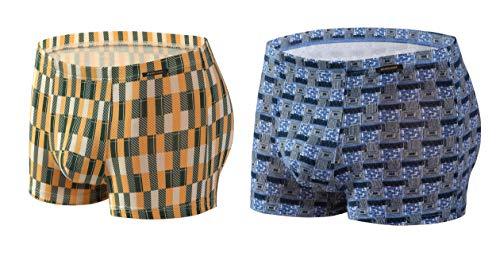 Sesto Senso® Herren Boxershorts Bambusfaser Multipack 1, 2 oder 4 Stück Jugend Retroshorts Micro Modal Unterhosen Unterwäsche Funky (XL, 2 Pack 1/2) 2er Pack Bambus