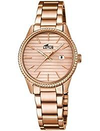 660940e396b7 Lotus – Reloj de Cuarzo para Mujer con Esfera Oro Rosa Pantalla analógica y  Rosa Oro Acero Inoxidable bañado en…