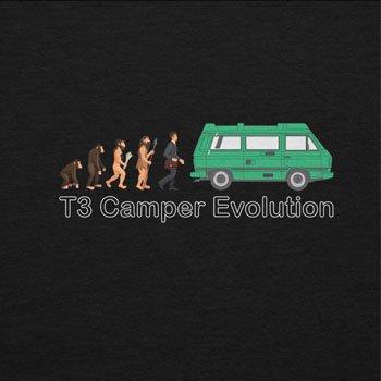 TEXLAB - T3 Camper Evolution Color Edition - Herren Langarm T-Shirt Schwarz
