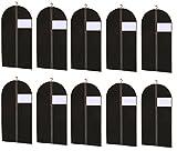 10 Kleidersack AP24 großes Sichtfenster 100 x 60 cm Kleiderhülle Kleidersäcke Kleiderschutz