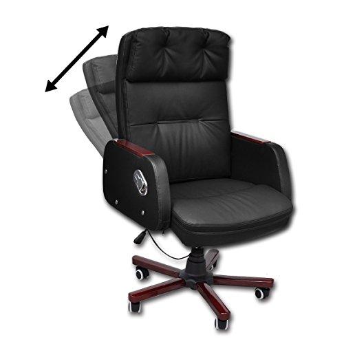 vidaXL Sedia da ufficio pelle artificiale reclinabile nera di alta qualità