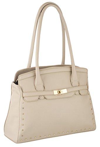 Eyecatch - Bexley Leder Frauen Handtaschen Beige