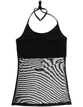 Gazechimp Camisa Vestido con Cuello de Halter Blusas de Danza Baile de Vientre De Moda