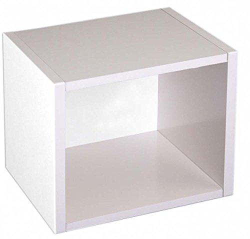 Etagère cube Standregal M73 coloris blanc, Dim: H40 x L34 x P29 cm -PEGANE-
