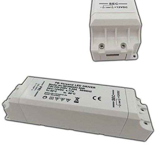 50W LED Leuchmittel Trafo 12V DC 1 - 50 Watt Netzteil Treiber Modell: MF090053 Transformator