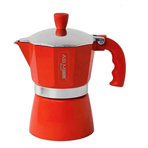 abm-idea hx915745 Cafetière 6 Tasse, rouge