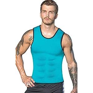 NOVECASA Herren Sauna Weste Neopren/mit Reißverschluss Hot Top Shaper Sweat Vest Fitness Hemd Abnehmen Unterhemd Männer
