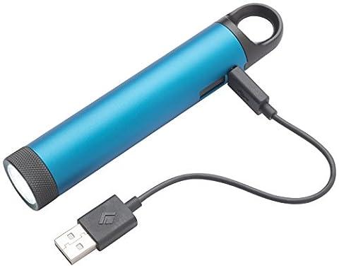Black Diamond Ember Power Light Ultra Blue / Taschenlampe und Ladegerät in einem - LED Leuchte zum Campen und laden von elektronischen Geräten / Kleine Campinglampe, max. 150 Lumen