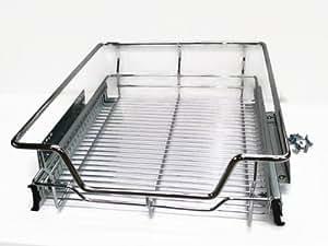 munchen panier de rangement coulissant pour placard de cuisine ou armoire de 500 mm. Black Bedroom Furniture Sets. Home Design Ideas