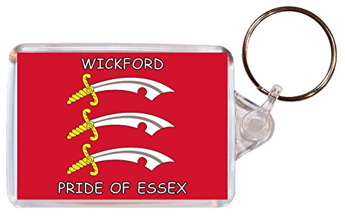 Wickford - Pride of Essex - Double Sided Large Keyring County Flag Souvenir/Gift/Present