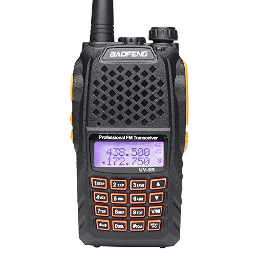 Mengshen Baofeng UV-6R Dual Band Funkgerät Two Way Radio Transceiver Walkie Talkie UV-5R Upgrade VHF UHF FM 136-174/400-520MHz High Power 5W/1W Up to 128 Channels Eingebaute VOX Funktion UV-6R Ou