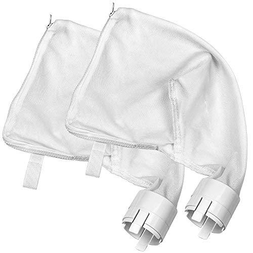 SuMile 2er-Pack Allzweckbeutel für Polaris 360,380 Poolreiniger, Ersatzbeutel, Filter, Nylon-Netz, Reißverschlussbeutel, 9-100-1021/9-100-1014 Vac-Sweep, Ersatzteile, Weiß (360/380)
