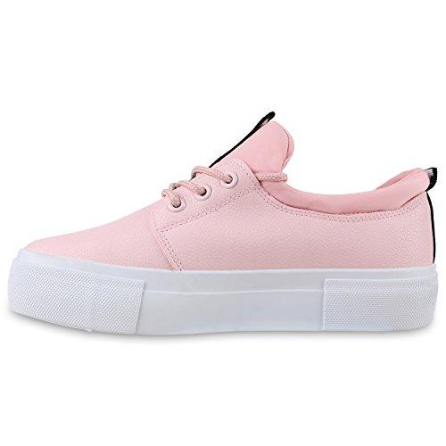 Schuhe Plateau Prints Rosa Sneaker Sportschuhe Sneakers Damen wRXB0OR