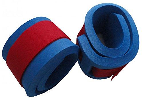 Schwimmbänder Armschwimmer Beinschwimmer 300x80x38mm Starker Auftrieb NEU&Original (Blau) Klettbänder Klettverschluss farblich sortiert -