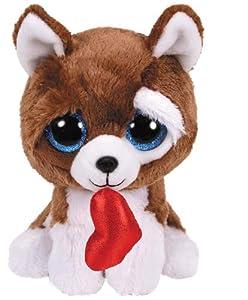 Ty-Beanie Boos 15 cm Peluche, Color marrón y Blanco, (36662)