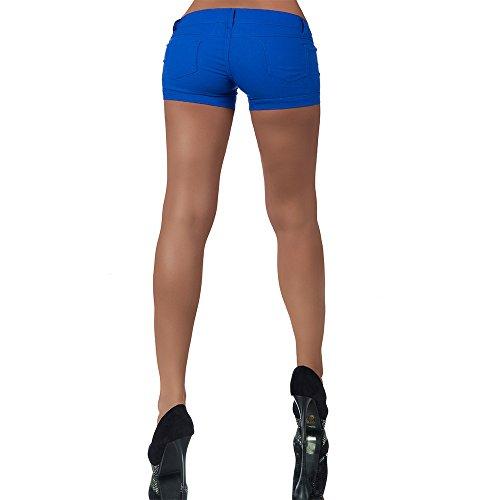 H907 Damen Jeans kurze Hose Damenjeans Hüftjeans Hot Pants Shorts Panty Blau