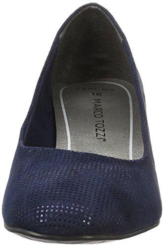 Marco Tozzi 22426, Escarpins Femme Bleu (Navy Metallic 824)