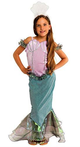(Magicoo funkelndes Meerjungfrau Kostüm Kinder Mädchen Größen 110 bis 140 - Faschingskostüm Mädchen Meerjungfrauen Kostüm (4-6 Jahre))