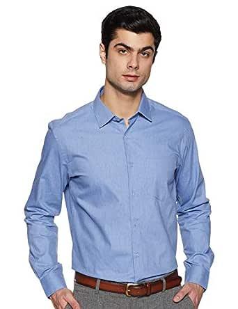 Diverse Men's Solid Regular fit Formal Shirt (DCMFF01RC11L31-3487_Blue 39)