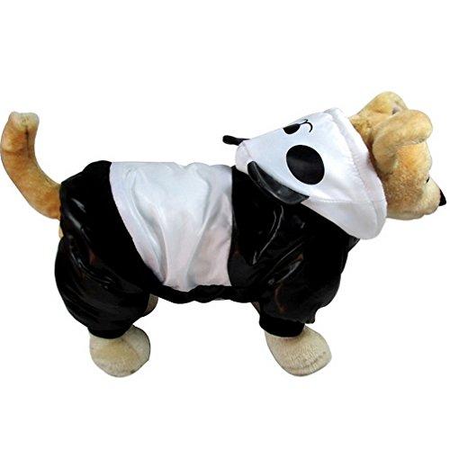 ranphy Hund Overall Panda Kostüm mit Kapuze Winter für kleine Hunde Katze Outfit (Ideen Kostüm Ein Panda Für)