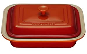 Le Creuset Lasagneform mit Deckel ofenrot