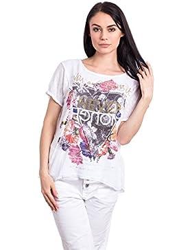 Abbino 150d Shirts Tops para Mujeres - Hecho en ITALIA - 4 Colores - Entretiempo Primavera Verano Otoño Casual...