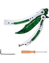 CSGO Mariposa de cuchillos Plegar Ejercicios (Verde+Blanco)