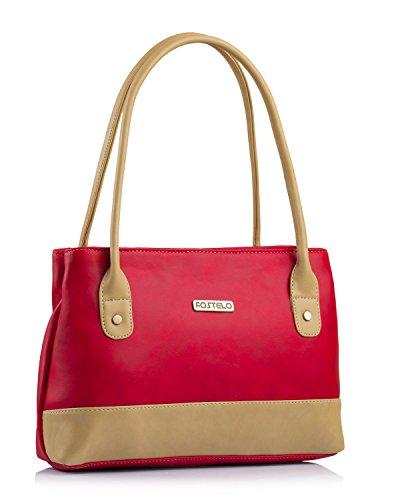 Fostelo Women\'s Zara Handbag (Red) (FSB-1054)