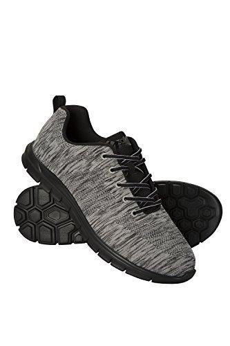 Mountain Warehouse Sprint Sneaker für Herren - Leicht, Sommerschuhe, Atmungsaktiv, Netzstoff, geformtes Fußbett, Eva-Laufsohle, strapazierfähig - Für Laufen, Fitness Dunkelgrau 44 (Geformtes Fußbett)