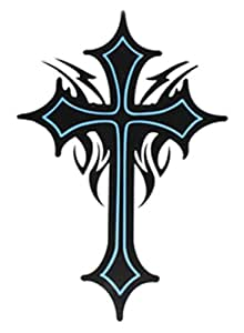 ggsell extra large size cross totem temporary tattoos inches beauty. Black Bedroom Furniture Sets. Home Design Ideas