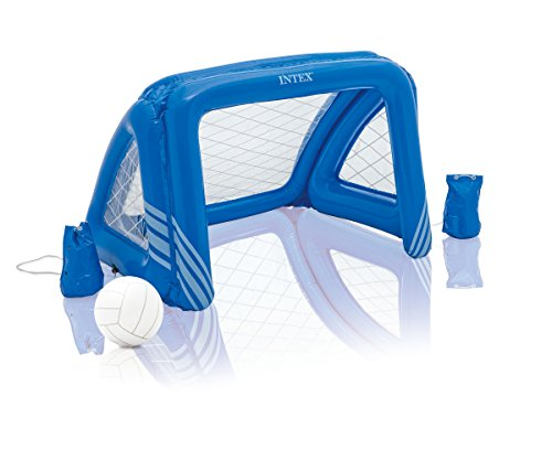 Intex Wasserspiel Floating Water Polo Game, Blau, 140 x 89 x 81 cm