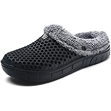 WAWEN Mujeres Mens Winter Winter Zuecos ligero Slipper Walking Sandals Beach Pool zapatos antideslizantes para interiores al aire libre