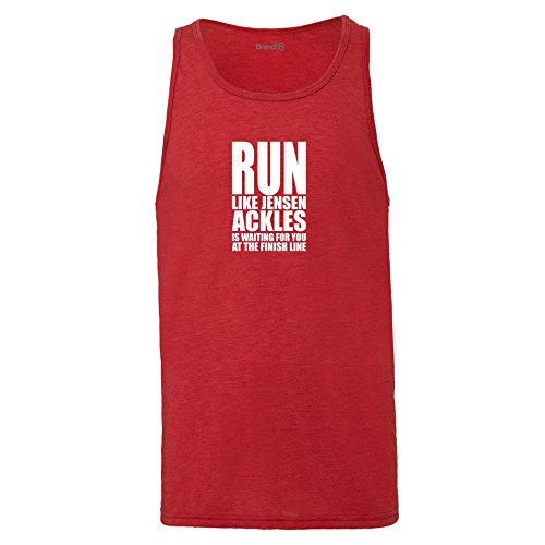 Brand88 - Run Like Jensen Ackles, Unisex Jersey Weste Rot Meliert
