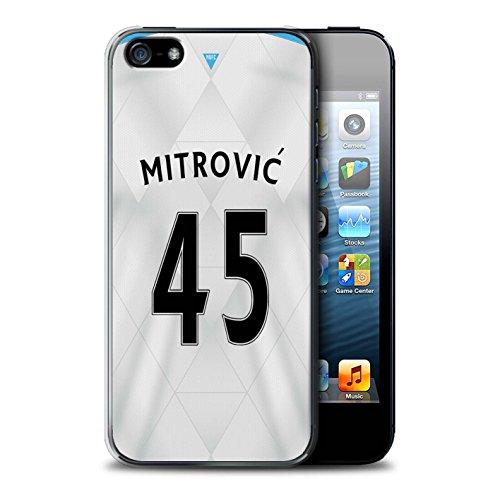 Offiziell Newcastle United FC Hülle / Case für Apple iPhone SE / Pack 29pcs Muster / NUFC Trikot Away 15/16 Kollektion Mitrovic