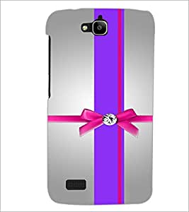 PrintDhaba Ribbon D-2924 Back Case Cover for HUAWEI HONOR HOLLY (Multi-Coloured)