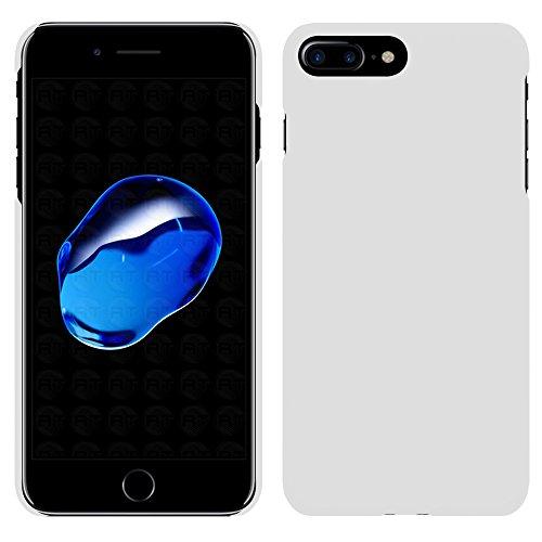 Apple iPhone 7 Plus - Rubber Schutzhülle Gummiert Hybrid Hard Case Schutz Cover Etui Hülle Tasche in Pink - RT-Trading Weiß