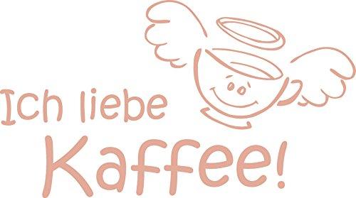 GRAZDesign 620151_57_958 Wandtattoo Ich Liebe Kaffee Küche | Küchen-Deko für Küchenräume | Wandaufkleber Selbstklebend | Top als Geschenk Geeignet (102x57cm//958 Baby Doll) (Baby-doll-tee Liebe)