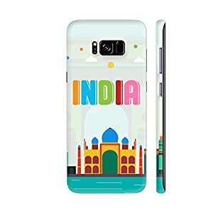 Colorpur India Multicolor Monuments On Soft Green Artwork On Samsung Galaxy S8+ Cover (Designer Mobile Back Case) | Artist: Designer Chennai