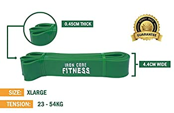 48 Hour Sale!! Assisted Pull Up Bands | Resistance Bands For Strength & Power Training, Crossfit Mobility & Gym Work | Stretching, Therapy, Yoga, Distraction, Flexibility & Pullups | Green (23kg-54kg) 5