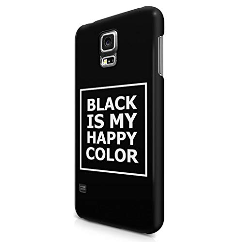 Maceste Black is My Happy Color Quote Kompatibel mit Samsung Galaxy S5 SnapOn Hard Plastic Phone Protective Fall Handyhülle Case Cover (Galaxy S5-tattoo-fall)