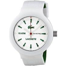 Lacoste 2010661 - Reloj para hombres, correa de acero inoxidable color blanco