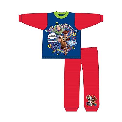 Toy Story Kinder/Kleinkinder Jungen Slogans Snuggle Fit Schlafanzug (2-3 Jahre (92)) (Blau/Rot) (Toy Story-pyjama, Kleinkind, Junge)