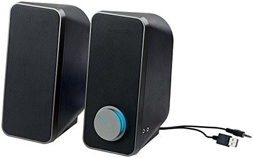 auvisio PC Boxen: Stereo-Lautsprecher mit USB-Stromversorgung, 24 Watt, 3,5-mm-Klinke (Lautsprecher Klinke ohne Strom) Sound Usb Lautsprecher Pc
